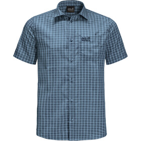 Jack Wolfskin El Dorado Shirt Korte Mouwen Heren, night blue checks